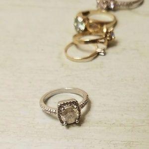 Jewelry - 2 Carat Moissanite Halo Ring - Size 6.5
